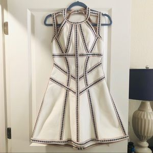 Herve léger fit and flare dress